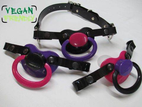 Gothic Colour themed, Vegan Friendly Large Shield Pacifier Changeable Front Pacigag